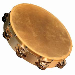 Granite Percussion 10-inch Wood Frame Tambourine With