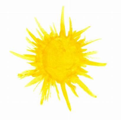 Watercolor Sun Transparent Splatter Yellow Clipart Onlygfx