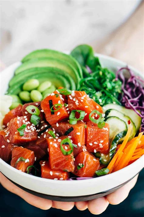 Spicy Wild Alaska Sockeye Salmon Poke Bowl Recipe ...
