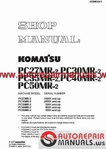 Shop Manual Komatsu Pc27