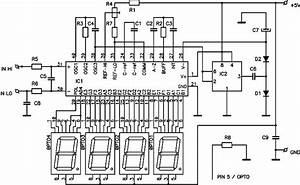 digital dc voltmeter based icl7107 chip circuit schematic With tft lcd display datasheet wiring diagrams electronic circuits