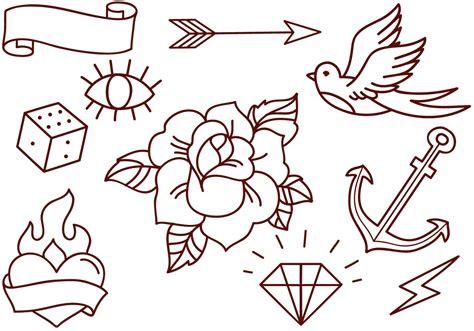 school tattoos vectors   vectors