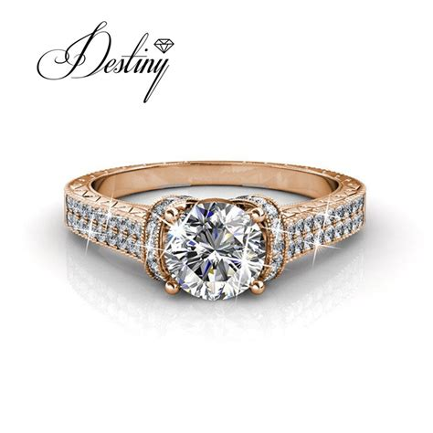 destiny jewellery wedding rings embellished with crystals from swarovski ring ring dr0178 in