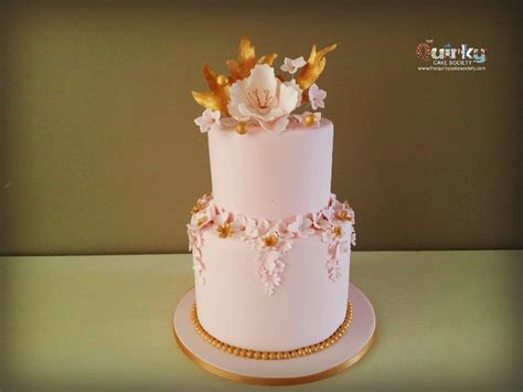 pink and gold cake the cake society