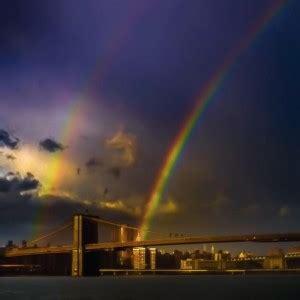 double rainbow brooklyn bridge nyc todays image