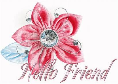 Hello Friend Hi Glitter Graphics Flower Quotes