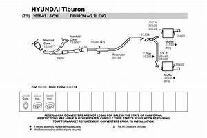 33 2005 Hyundai Elantra Exhaust System Diagram