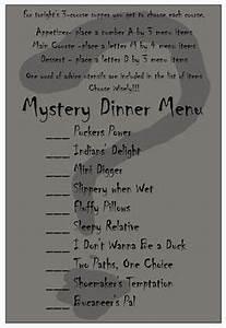 christmas dinner menu Mystery Dinner youth group Christmas