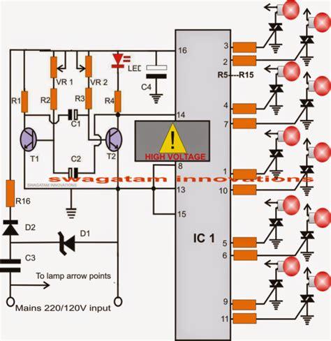 christmas light chaser circuit make this diwali christmas running chasing light circuit