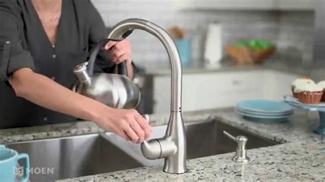 Varese Spot Resist Stainless Pullout Kitchen Faucet Moen