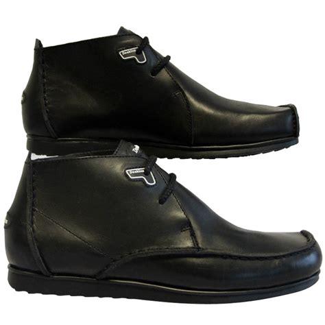 mens designer boots mens black deakins reef 19 designer leather boots shoes