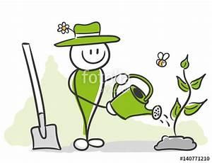 Blumen Gießen Mondkalender 2017 : stick figure series green blumen gie en stock image ~ Lizthompson.info Haus und Dekorationen