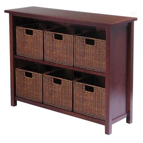 winsome milan  tier storage shelf   wired baskets