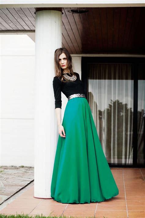 Vestidos largos de fiesta verde y negro de arimoka online