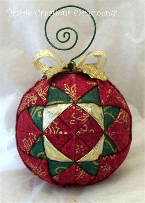 quilted christmas ornaments ornaments quilted ball