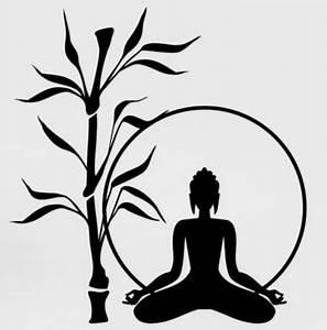 Signification Des 6 Bouddhas : bouddha mur autocollant bouddha arbre bambou relaxation zen m ditation mura art wall sticker ~ Melissatoandfro.com Idées de Décoration