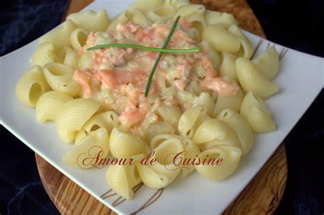 saumon cuisine pâtes au saumon fumé facile et rapide amour de cuisine