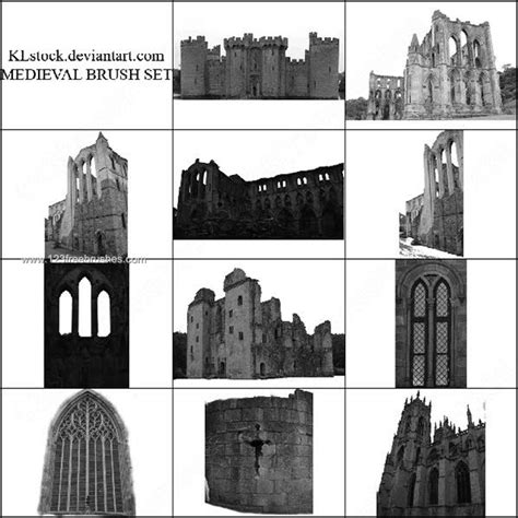 Medieval Castle Photoshop Brushes Free  Photoshop Free