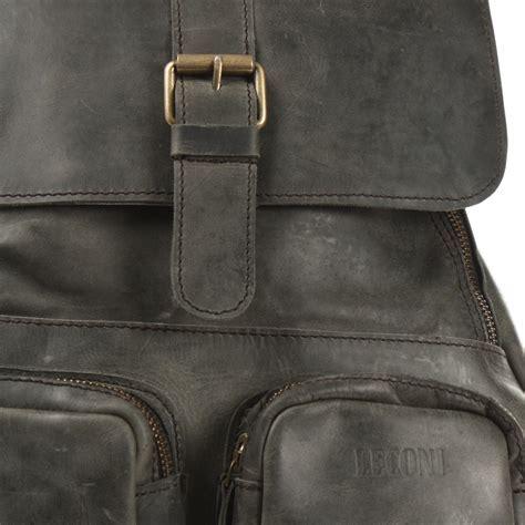 LECONI Rucksack Vintage Leder grau LE1008