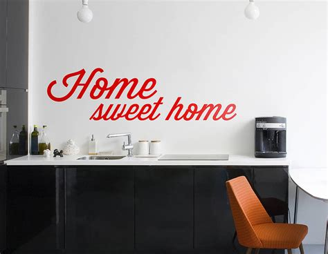 home sweet home wall sticker contemporary wall stickers