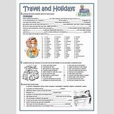 Travel And Holidays Worksheet  Free Esl Printable