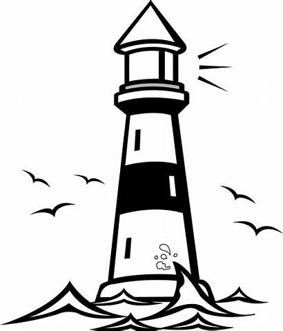 Lighthouse Drawing Clipart Bible Pages Coloring Clip