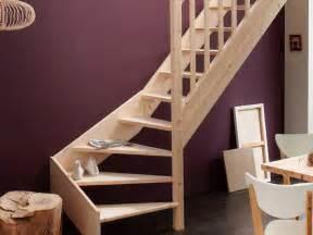 Escalier Bois Interieur Leroy Merlin escalier leroy merlin quart tournant en bois naturel