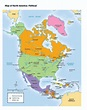 Political Map of North America - TeacherVision