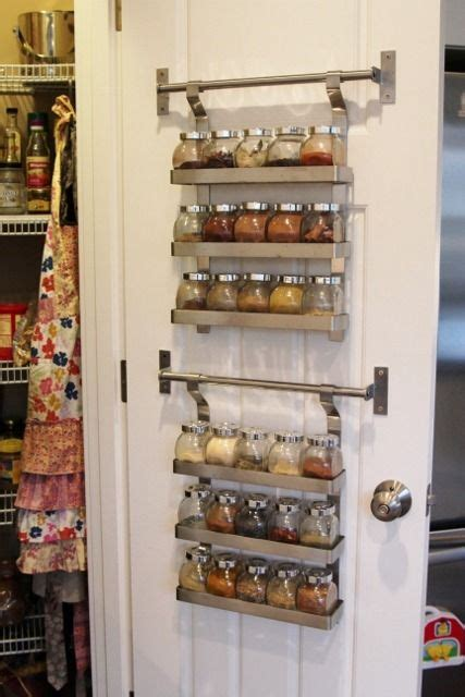 spice rack inside pantry door ikea spice rack and mini jars for inside of pantry closet