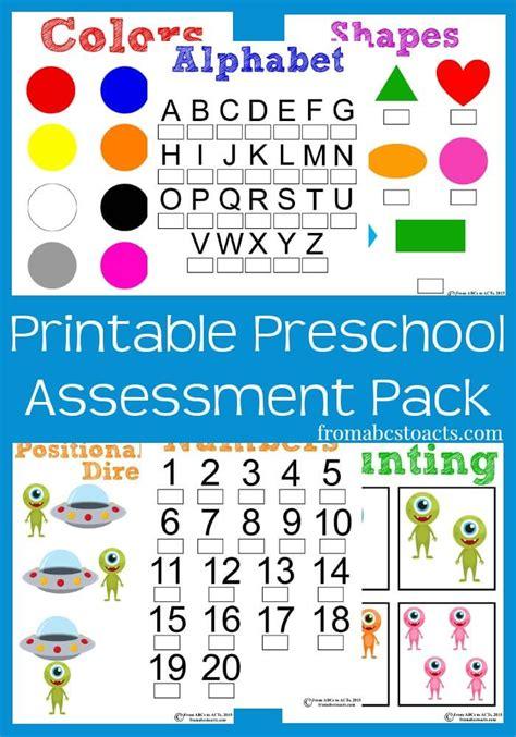 printable preschool assessment pack from abcs to acts 437 | Printable Assessment Pack for Preschoolers