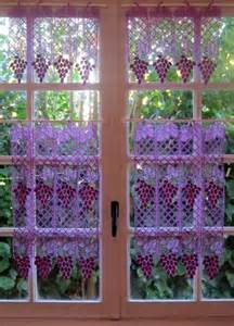 Purple Grape Kitchen Curtains by Lace Kitchen Curtains Purple Lace Brise Bise Set Tier