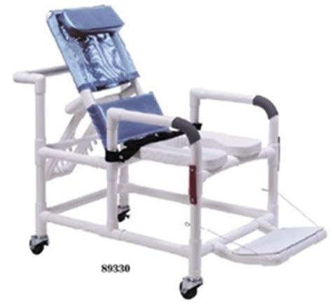 lumex pvc reclining shower chair with casters commode