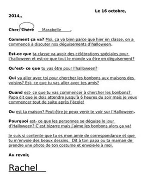 pen pal letter template pen pal letter writi by la classe de francais teachers pay teachers