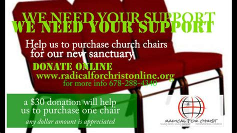 rfc church chair fundraiser by kevin williams