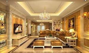 Romantic French Living Room Interior Design 3D house