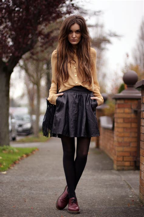 Anouska Proetta Brandon - Primark Blouse Viparo Clothing Skirt Dr. Martens Shoes - Dr Martens ...