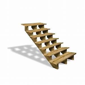 Marche Bois Escalier : escalier en bois 7 marches deck linea ~ Premium-room.com Idées de Décoration
