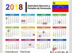 Calendario bancario y feriados de Venezuela 2018 Buscar