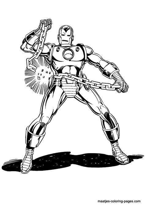 Iron Ma Kleurplaat by Ironman Coloring Page