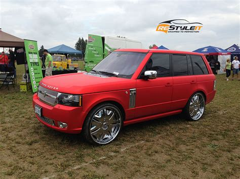 chrome range rover matte red chrome range rover sport vehicle customization