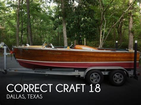 New Boats For Sale In Dallas Texas by For Sale Used 1958 Correct Craft 18 In Dallas Texas