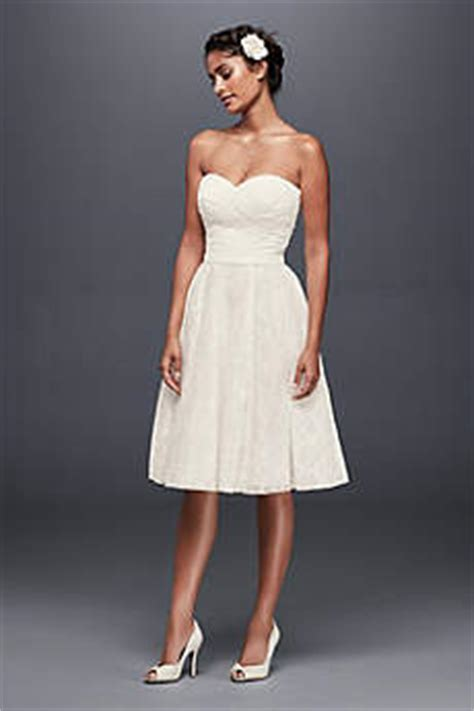 plain cutout dress tea length wedding dresses david 39 s bridal