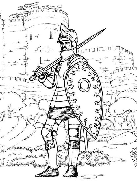 knights coloring pages   print knights coloring pages