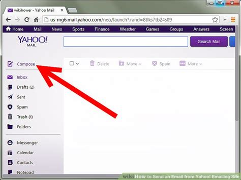 how to send an email from yahoo emailing site 6 steps