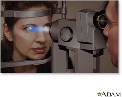 slit l eye exam slit l exam medlineplus medical encyclopedia image