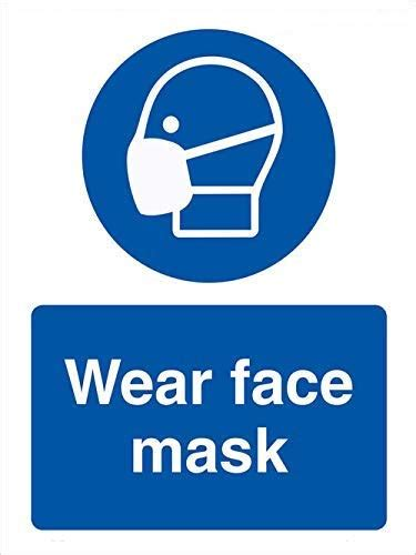 Prevent COVID-19 Safety Sign - Wear Face Mask Sign (10x13