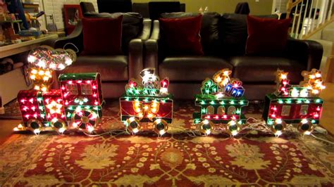 lighted christmas train outdoor lighted decorations clearance www indiepedia org