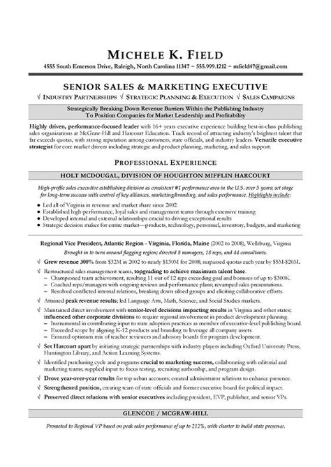 Vp Of Sales Resume by Vice President Marketing Resume Best Resume Exle
