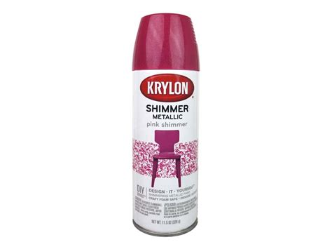 Krylon Shimmer Metallic Spray Paint 11.5 Oz. Pink Best Way To Clean Wood Laminate Flooring Floor Brand Average Installation Cost For How Snap Together The Refinishing Cleaner Polishing Machine
