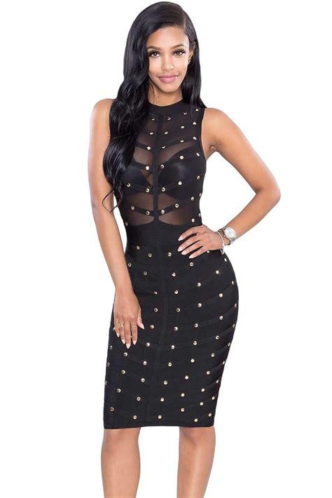 size 5 wedding rings sova black studded bandage dress